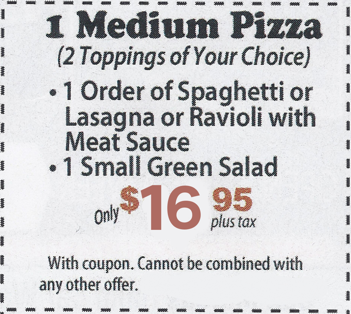 1 Medium Pizza Promotion